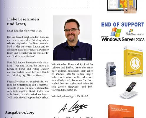 Newsletter Seite-1 | IT COM Neuigkeiten | 01-2015