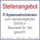 Stellenangebot | IT-Systemadministrator