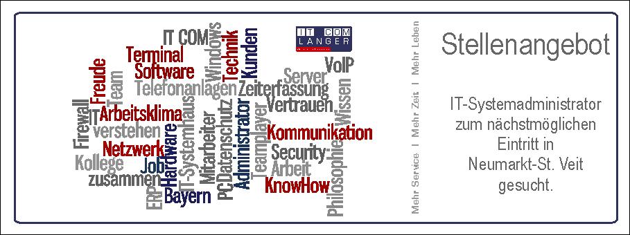 Job | Jobangebot | IT-Systemadministrator