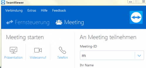 Team Viewer Meeting | Fernwartung | Support