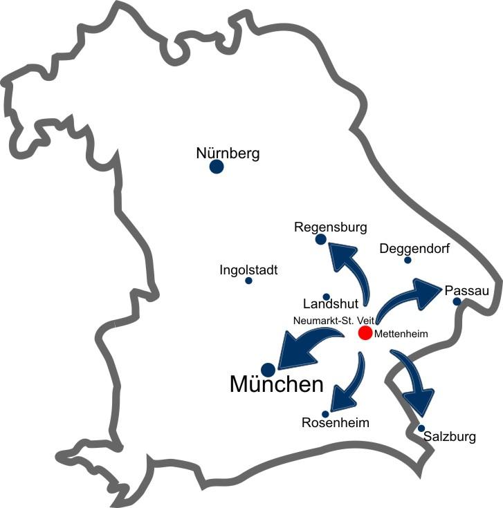 Karte Bayern | Mettenheim | myfactory